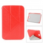 Stylish Protective PU Leather Case for Samsung N5100 - Red