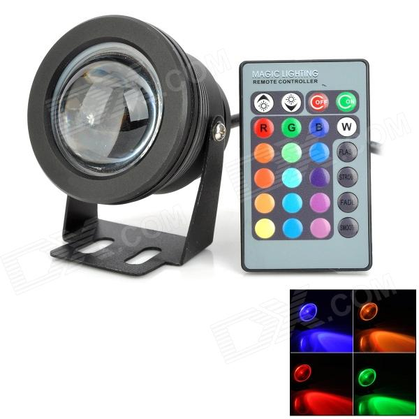 wasserdicht cjgd04 10w 450lm 10 led rgb strahler w remote controller schwarz 12v. Black Bedroom Furniture Sets. Home Design Ideas