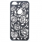 Stylish Hollow Rose Pattern Protective Plastic Back Cover Case for Iphone 5C - Black
