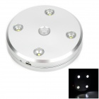 0.5W Intelligent USB Powered LED White Light Sensor Lamp - Silvery White