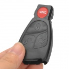 AML031447 Replacement 4-Button Remote Key Shell Case for Mercedes-Benz Smart - Black + Red