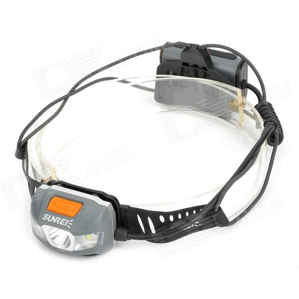 Sunree Search 200lm 8-Mode White + Red Sports Headlamp w/ Cree XP-E R3 + 4-LED - Grey (2 x AA) налобный фонарь sunree 2 sports2