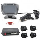 2'' Didital Display LCD Screen 4-probe Wireless  Parking Sensor Parking System - Black