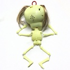Spoof Voz Horror Hanging Skeleton - Beige (2 x AA)