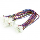 4-Pin Female to Dual Male Extension Split Cables for CPU Fan - Multicolored (30cm / 5 PCS)