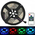 Waterproof 36W 5050 SMD 50 LED RGB Light Strip w/ RGB Remote Control - Black + White (5M / DC 12V)