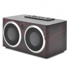 PHL.NPS SA68 Portable 2-Channel Media Player Bass Speaker w/ SD - Brown + Black + Silver