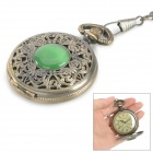 Retro Engraving Analog Mechanical Pocket Watch - Bronze