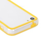 Protective PC + TPU Bumper Case for Iphone 5C - Transparent + Yellow
