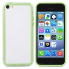 Protective PC + TPU Bumper Case for Iphone 5C - Transparent + Green