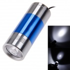Mini Extension-Type 60lm LED Flashlight - Blue + Silver (2 x CR2032)