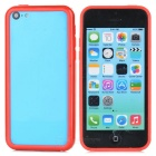 Protective TPU + PC Bumper Frame for Iphone 5C - Red
