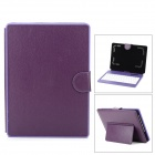 "Stylish Bluetooth V3.0 80-Key Keyboard w/ PU Leather Case for 7"" & 8"" Tablet PCs - Purple"