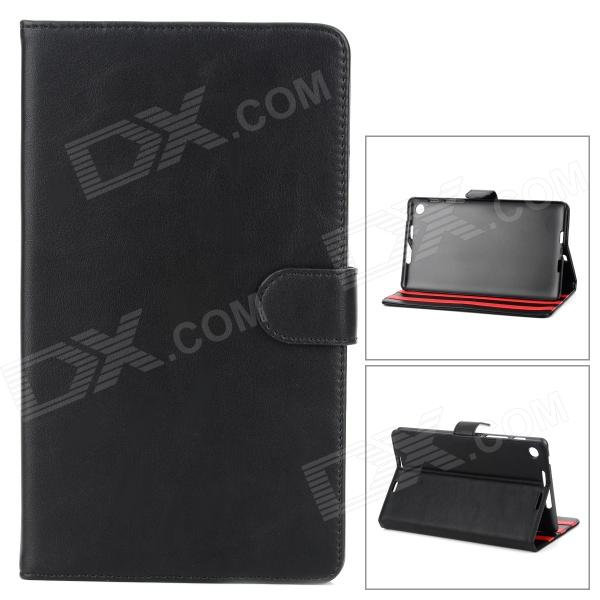 Stylish Protective PU Leather Case for Google Nexus 7 II - Black wireless bluetooth v3 0 keyboard w folding pu leather case for google asus nexus 7 black