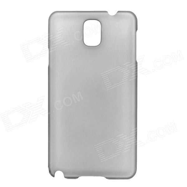 Protective Frosted PC Back Case for Samsung Note 3 N7200 / N9000 - Translucent Black protective flip open pu leather case w display window stand for samsung note 3 n7200 white