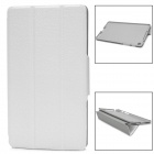 3 Section Folding Protective PU Leather Case for Google Nexus 7 II - White