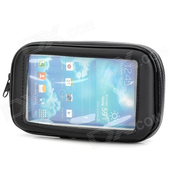 Bike Protective Water Resistant Bag w/ Mount Holder for Samsung Galaxy S3 i9300 / S4 i9500 - Black