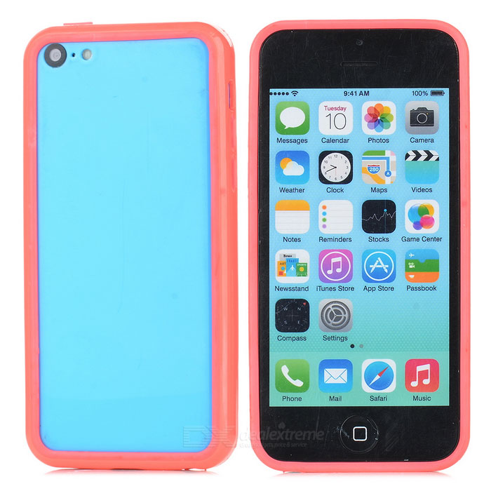 Protective TPU + PC Bumper Frame for Iphone 5C - Deep Pink