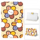 Cartoon Sunflower Style Protective PU Leather + TPU Case w/ Sleep Mode for Samsung T310 - Multicolor