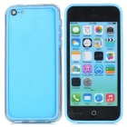Protective TPU + PC Bumper Frame for Iphone 5C - Light Blue + Transparent