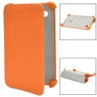 Protective PU Leather Case for Samsung P3100 - Orange