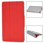3 Section Folding Protective PU Leather Case for Google Nexus 7 II - Red