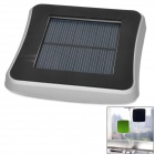 2600mAh USB Solar Powered External Emergency Charger for iPhone 4 / 4S / 5 / Samsung / HTC - Silver
