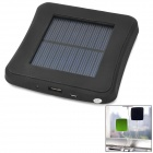 2600mAh USB Solar Powered External Emergency Charger for iPhone 4 / 4S / 5 / Samsung / HTC - Black