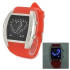Rectangle Shaped LED Digital Wrist Watch - Red + Silver + Black (2 x CR2016)