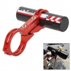 GUB CNC 329 Carbon Fiber Bike Flashlight Extension Holder - Red
