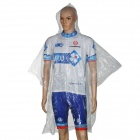 NUCKILY H572 Outdoor Camping Disposable Nylon Raincoat / Rainwear - Transparent White
