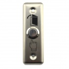 Jtron 04010054 Stainless Steel Press Button Switch Door Lock - Silver (12~24V)