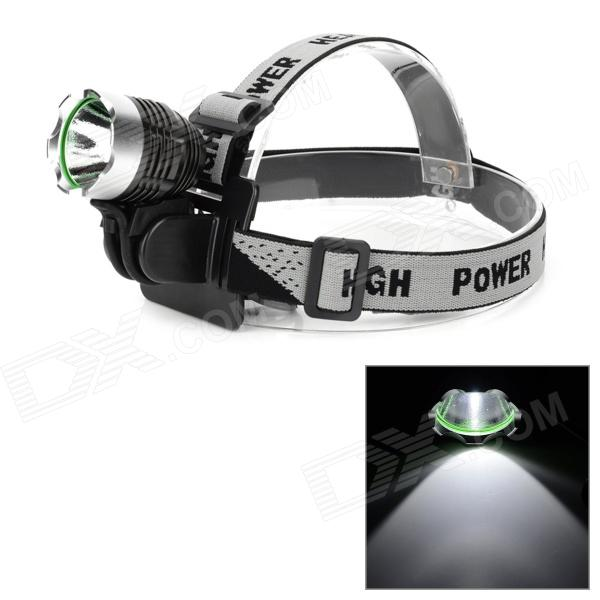 801 860lm White Light 4-Mode LED Bike Head Lamp w/ Cree XM-L T6 - Deep Grey + Silver 2800lm 3 mode white bicycle headlamp w 4 x cree xm l t6 grey