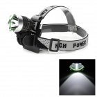 801 Cree XM-L T6 860lm White Light 4-Mode LED Bike Head Lamp - Deep Grey + Silver