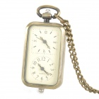 G5386A Rectangle Shaped Zinc Alloy Analog Quartz Pocket Watch - Bronze