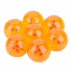 LZQ30 Three-Dimensional Star Crystal Acrylic Balls Set - Orange (7 PCS)