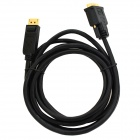 DisplayPort Male to DVI Male HD Video Audio Transmission Cable - Black (3m)