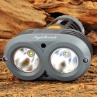 SUNREE Nighthawk 446lm 4-Mode White Wide Angle Bicycle Light w/ 2 x Cree XP-G R3 - Black (4 x AA)