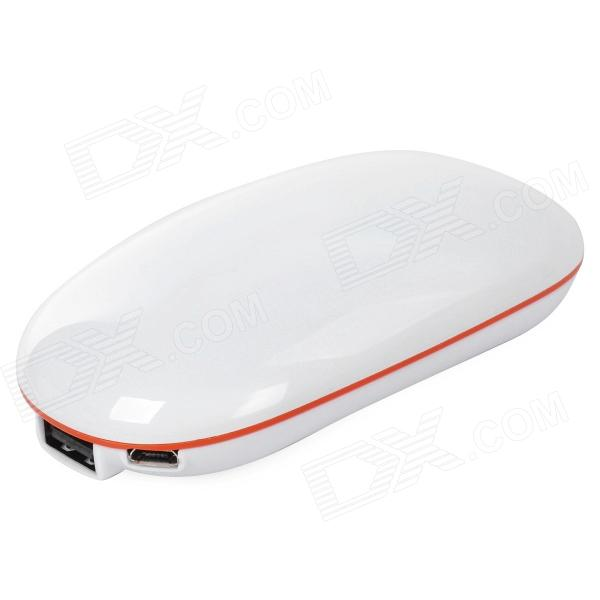 все цены на Elliptic Shape 5V 5200mAh Li-ion Battery Power Bank for Iphone / Ipad / MP3 + More - White онлайн