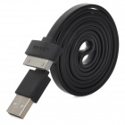 USAMS PVC USB to 30pin Data / Charging Cable for iPhone 4 / 4S - Black (100cm)