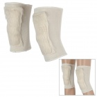 R5067A  Elastic Cold-proof Keeping Warm Knee Pads - Beige (Pair)