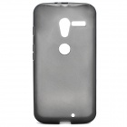 Stylish Protective Silicone Back Case for Motorola X Phone - Translucent Black