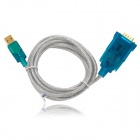 DTECH 5002 USB 2.0 Male to Serial Port Cable - Blue + Silver (175cm)