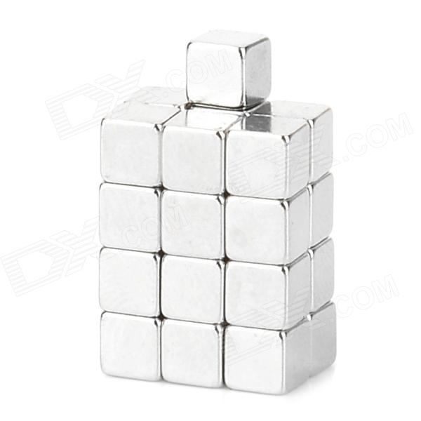 Square NdFeB Magnet Cubes - Silver (25 PCS) diysecur 4pin dc12v 24v 7 inch 4 split quad lcd screen display rear view video security monitor for car truck bus cctv camera