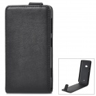 Protective PU Leather Case for Nokia 625 - Black