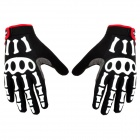 Spakct Cool Finger Joint Cycling Gloves - Black + White + Red (Pair / Size XXL)