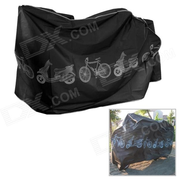 Polyester Rainproof Cover for Bike / Motorcycle - Black (210 x 65 x 110cm)