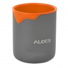 Alocs Outdoor Color-drip Water Cup - Orange + Grey (300ml)