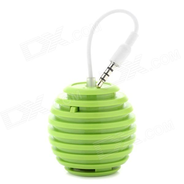 Grenade Style 3.5mm Speaker for Iphone / Ipod / Ipad - Green