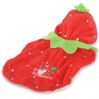 JUQI Cotton Strawberry Clothes for Pet Cat (Size S)